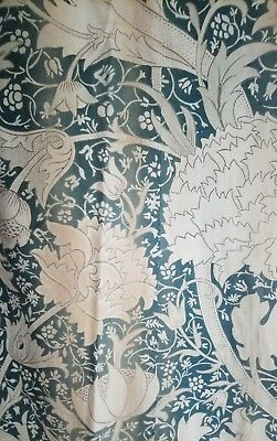 William Morris & Co Curtains ca 1900 w/ Label Arts and Crafts Design Victorian 4