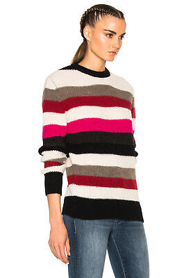 NWT IRO SOLAL Striped Ribbed Knit Sweater Multi Size M $270