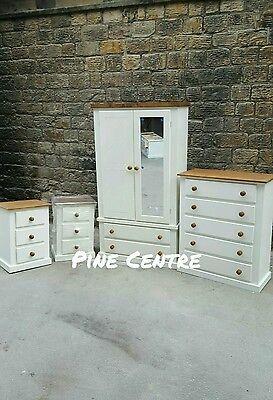 Handmade Aylesbury Next (Ivory+Dark Oak) 4 Piece Bedroom Set Not Flat-Pack!!! 3