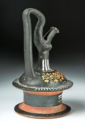 Greek Gnathian Black-Glazed Pottery Epichysis Lot 26A