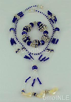 Yemaya De Gala Ilde Santeria Ifa Orisha Bracelet & Collar Idde Mazo White Coral