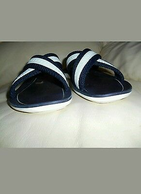 27fad24aa ... Louis Vuitton LV Sandals flip flops  sliders strap over MENS navy blue  and