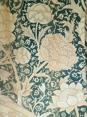 William Morris & Co Curtains ca 1900 w/ Label Arts and Crafts Design Victorian 3