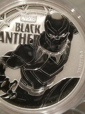 Black Panther Marvel Comics 1 oz .999 Silver Coin  $1 2018 Tuvalu Super Hero New