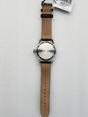 Citizen Avion Eco-Drive Black Dial Date Black Leather Men's Watch Aw1361-01E New 2