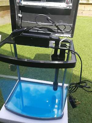 25L/42L/62L Aquarium Fish Glass Tank Fresh Water LED Light Filter Black 4