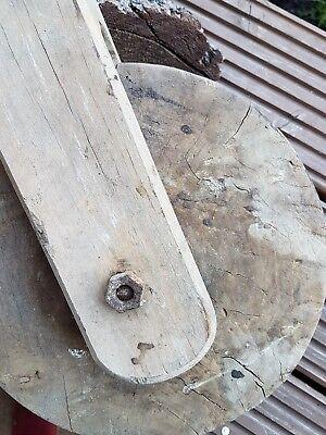 Alter Flaschenzug Holzrolle Umlenkrolle  Landhaus Vintage Industrie Werkzeug 298 4