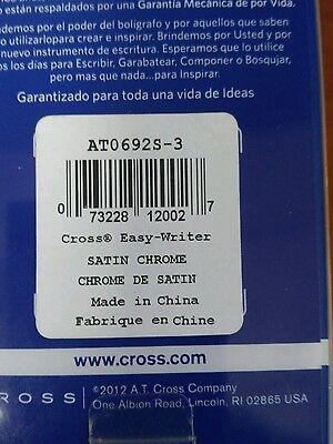 Cross Easy Writer, Satin Chrome Ballpoint Pen 4