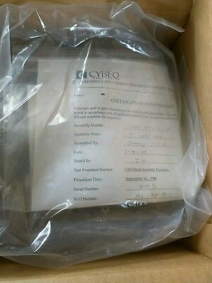 """CYBEQ 0162-4500-01 5"""" Assembly Head Device Wafer Techron Ring New (4 have cert) 8"""