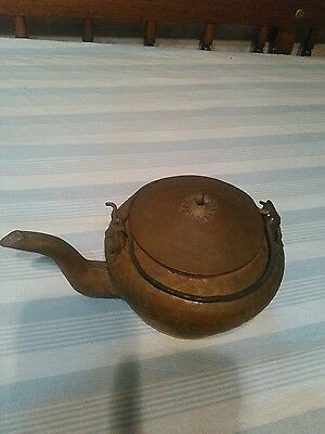 Japanese old copper bottle teapot KYUSU finish hammer pattern,SHIP FREE