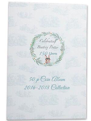 Beatrix Potter 2016-2018 50p coin album folder NEW Peter Rabbit Jeremy Fisher 3