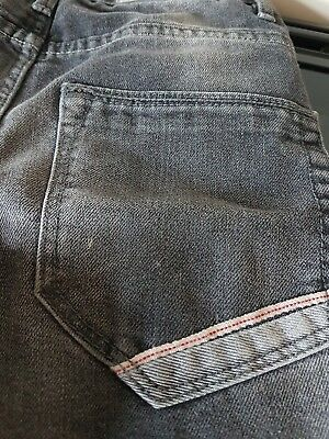 Age 8 black boys jeans with faded effect 8