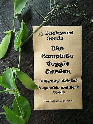 The Complete Veggie Garden, Vegetable and Herb Seeds for Autumn / Winter