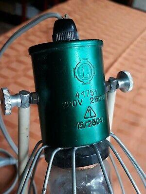 Rotlichtlampe aus Glas von 1940 Wärmelampe Strahler / gebraucht und funktioniert 3