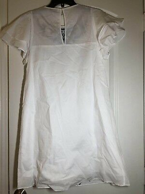 NWT Parker Tiered flutter sleeve Embroidered eyelet cotton white dress size L 5