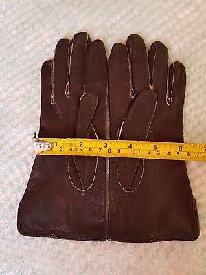 Vintage Retro 'Eleganta' Black Colour Leather Gloves Size 6.5 Small 3