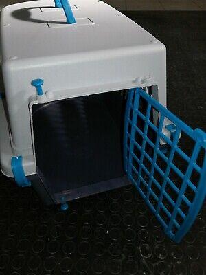 Trasportino  plastica per cani e gatti da viaggio trasporto auto 48x31,5x33 2