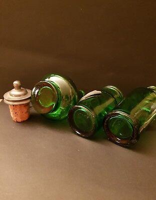 3 alte Schnupftabak flaschen mit zinn montierung
