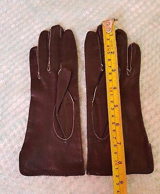 Vintage Retro 'Eleganta' Black Colour Leather Gloves Size 6.5 Small 2