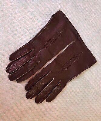 Vintage Retro 'Eleganta' Black Colour Leather Gloves Size 6.5 Small 4