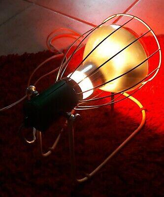 Rotlichtlampe aus Glas von 1940 Wärmelampe Strahler / gebraucht und funktioniert 7