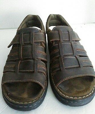 7a5e30c309b5 ... NEVADOS Mens Brown Open Toe Strappy Fisherman Sport Sandals Shoes sz 10  V6408M-E 2