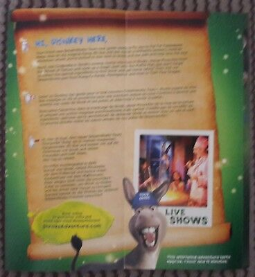 Dreamworks Tours Shrek's Adventure London promo flyer gatefold Kung Fu Panda