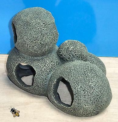 Cave Rock Hide Pebble Tunnel Aquarium Ornament Fish Tank Decoration New 3