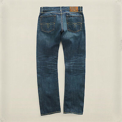 still water selvedge blue RRL s 28 29 30 32 33 34 Double RL slim fit jean