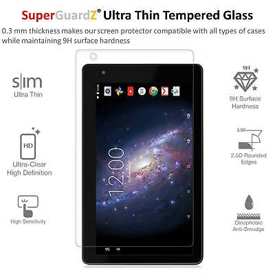 """SuperGuardZ Tempered Glass Screen Protector For RCA Voyager 7"""" (RCT6773W42)"""