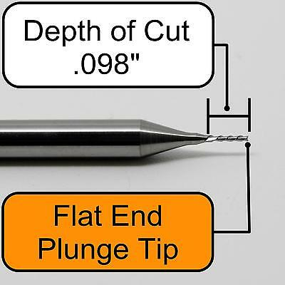 "47//64/"" 4-Flute Cobalt CC Plunge Cut End Mill .020/"" Radius MF420011950"
