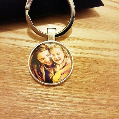 Personalised Custom Photo Keyring Chain Valentines Day Dad Mum Birthday Gifts 2