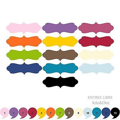 10 Découpes en papier /_ ETIQUETTE 12,5X4,7cm /_ Die cut scrapbooking carterie