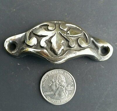 "8 Antique Victorian style Apothecary Drawer Pull Handles ""polished"" 2 7/8"" #A3 6"