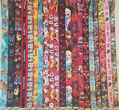 Pick One! Disney World Lanyard For Pin Trading! Mickey Minnie Nemo Marvel B3G1 9