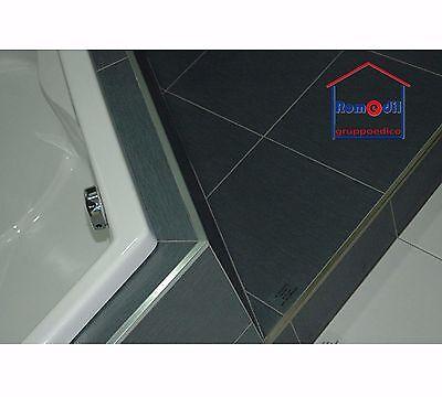 Profilo Acciaio Inox Satinato Angolo Piastrelle Projolly Square  Progress 8 10