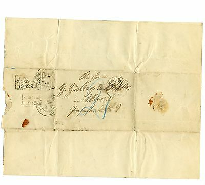 Alter Brief 1866 Erfde nach Altona Gösling Halter Claußen Handschrift Dokument