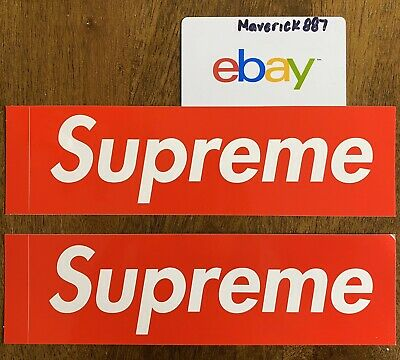 Supreme Red Box-Logo Sticker 100/% Authentic Brand New Fast Shipping Cheapest