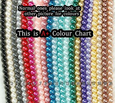 Glass Pearl Beads 4,6,8,10,12mm -{[Buy 3 Get 3 Free]}- Jewellery Making Crafts 2