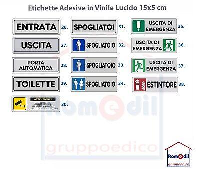 Etichetta Segnaletica Adesiva ATTENZIONE AREA VIDEOSORVEGLIATA sicurezza 15 x 5