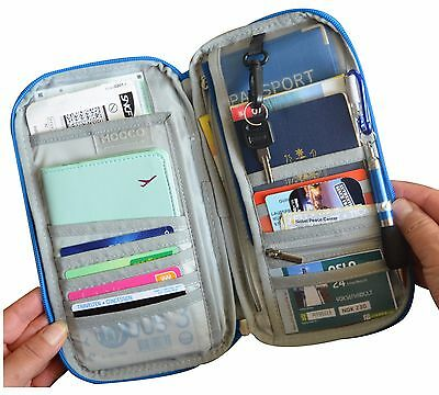 Travel Wallet Ticket Holder with RFID Blocking Covers for Passport iPhone Xs 7