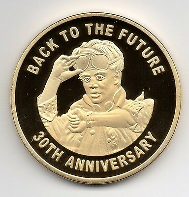 Back to the Future Gold Coin Trilogy Michael J Fox Iconic Movie Past History USA 4