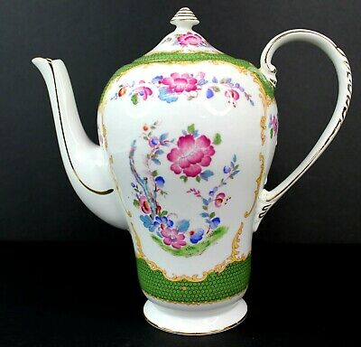 Vintage A.B.J Grafton Canton China Teapot Made in England Antique Beautiful 3