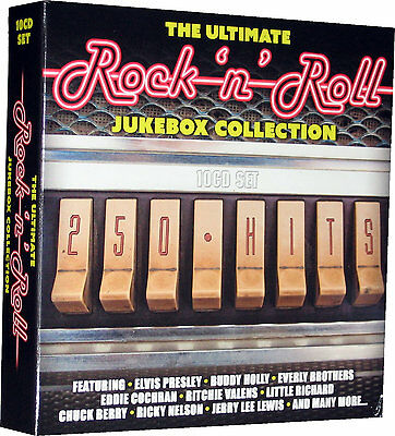 Rock n Roll 10 CDs 250 Hits The Ultimate Jukebox Collection Of 50s 60s Music New 4