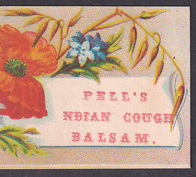 Pell's Indian Cough Balsam Cure Asthma Remedy bottle card Victorian Advertising 6