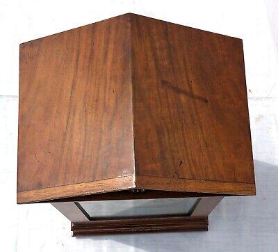 ~ Antique Architectural LENZKIRCH Walnut TING TANG Bracket Mantel Clock WORKING 9