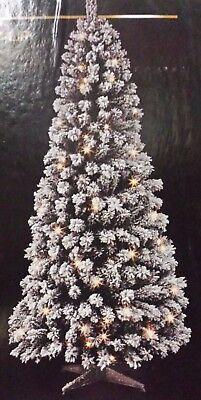 ... 6ft Adventa Snow Pop Up Pre Lit Christmas Tree 360 Rotate Manually 10