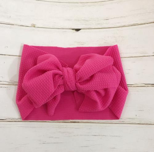 Handmade Baby Girls Large Bow Headband Infant Toddler Knot Hair Band Head Wrap 8