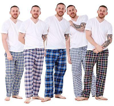 New Mens Pyjama Bottoms Rich Cotton Woven Check Lounge Pants Nightwear M to 5XL 2