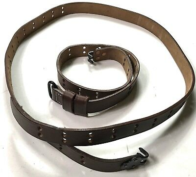 Wwii Us M1 Garand Rifle M1907 Leather Carry Sling 3